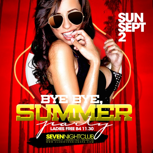 Club Seven - Special Events - Bye Bye Summer August 2018