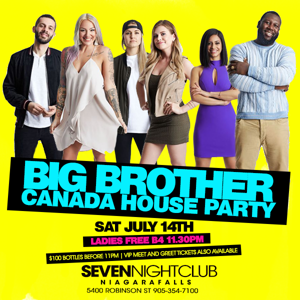 Club Seven - Special Events - Big Brother Canada House Party