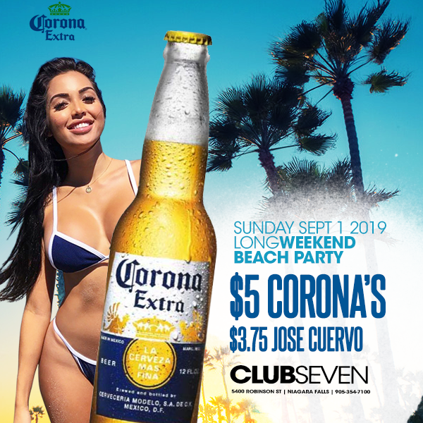 Club Seven - Special Events - Sunday September 1, 2019