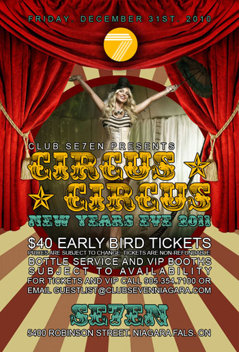 Club Se7en Circus Circus New Years Eve 2011