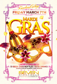 Club Se7en Freedom Fridays - Mardi Gras