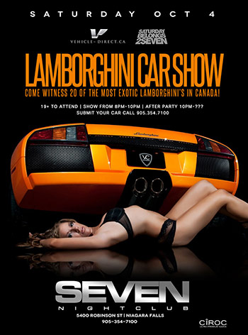Club Se7en - Lamborghini Car Show