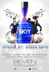 Club Se7en Freedom Fridays Mile High Sky Vodka Party