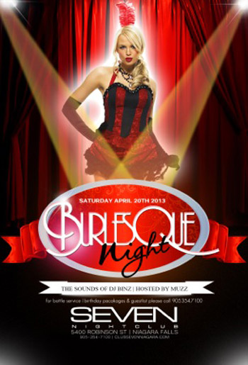Club Se7en Saturdays Belong to Se7en - Burlesque Night