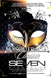 Club Se7en Saturdays Belong To Seven - Masquerade Classic