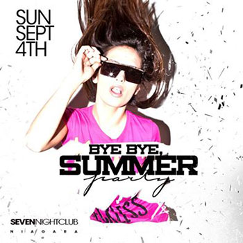 Club Se7en - Special Events - Bye Bye, Summer
