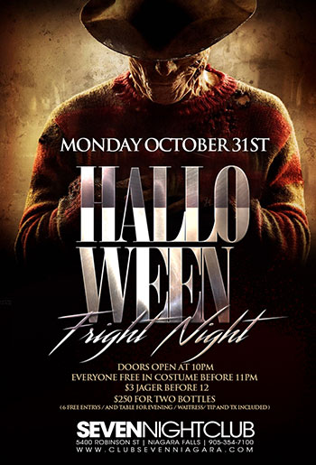 Club Se7en - Special Events - Halloween Friday Night