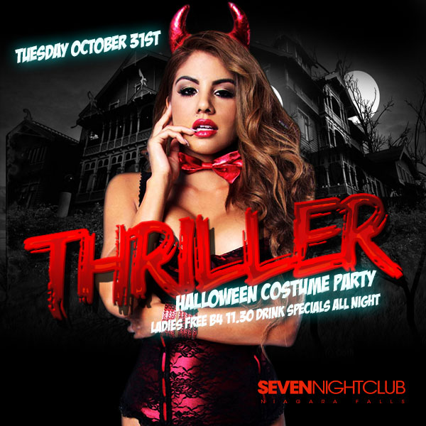 Club Seven - Halloween 2017 - Thriller Halloween Costume Party - Tuesday, October 31, 2015