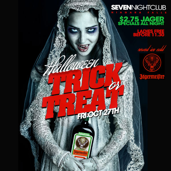 Club Seven - Halloween 2017 - Trick or Treat - Friday, October 27, 2017