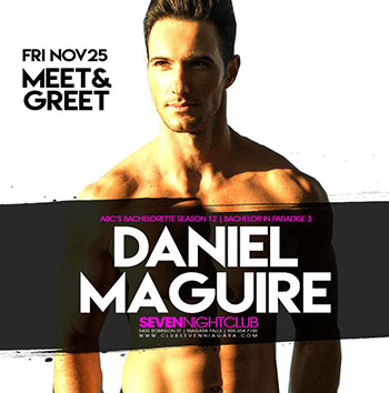 Club Se7en - Special Events - Meet & Greet Danial Maguire