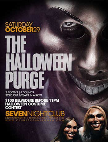 Club Se7en - Special Events - The Halloween Purge