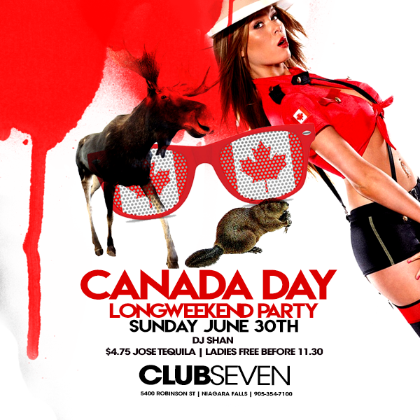 Club Seven - Special Events - Canada Day July 1